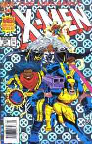 Uncanny X-Men comic book cover #300 (holofoil)