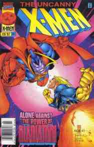 Uncanny X-Men comic book cover #341
