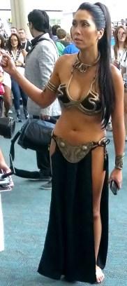 Sexy Princess Leia cosplayer at Comic-Con