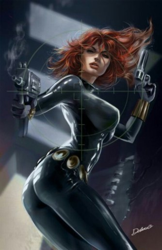 Black Widow action painting