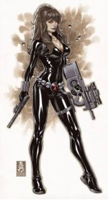 Black Widow color art by Brooks