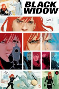 Black Widow panel art by Phil Noto