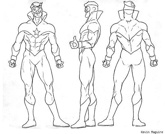 Kevin Maguire Model Sheets for 'Justice League