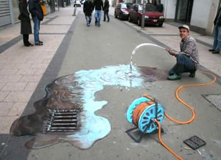 Waste of water (Julian Beever)