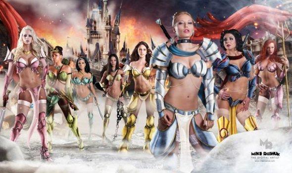 Real Sexy Disney Princess Warriors All