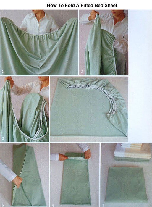 how to fold fitted sheets life hack