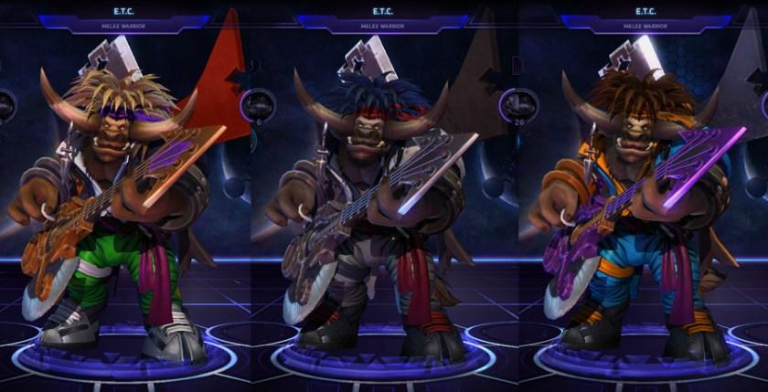 heroes storm ETC skins glam metal