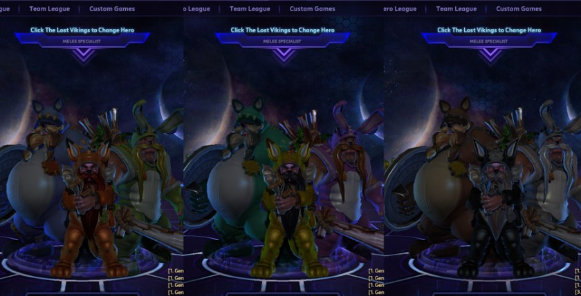 heroes storm the lost vikings skins pajama party