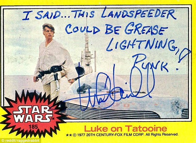 Mark Hamill Star Wars Trading Card Joke 001 Landspeeder Grease Lightning