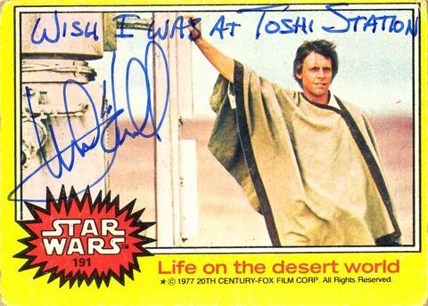 Mark Hamill Star Wars Trading Card Joke 007 Wish Toshi Station