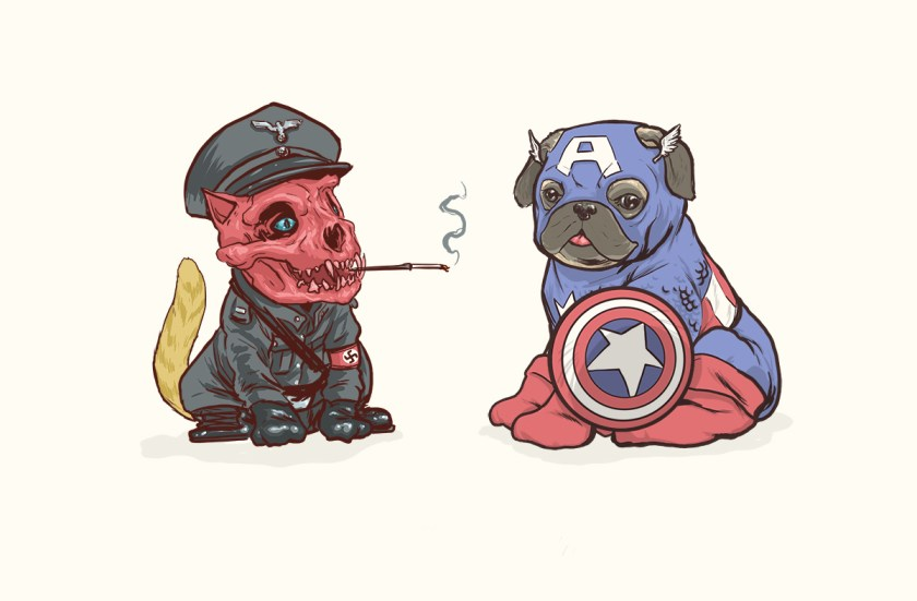 josh lynch marvel dogs 001 red skull and captain america