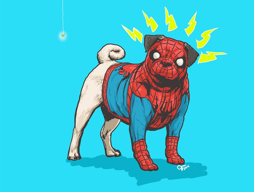 josh lynch marvel dogs 012 spiderman