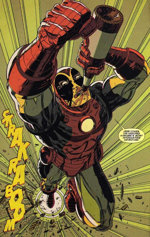 best-moments-of-deadpool-comics-003-drunk-iron-man-armor