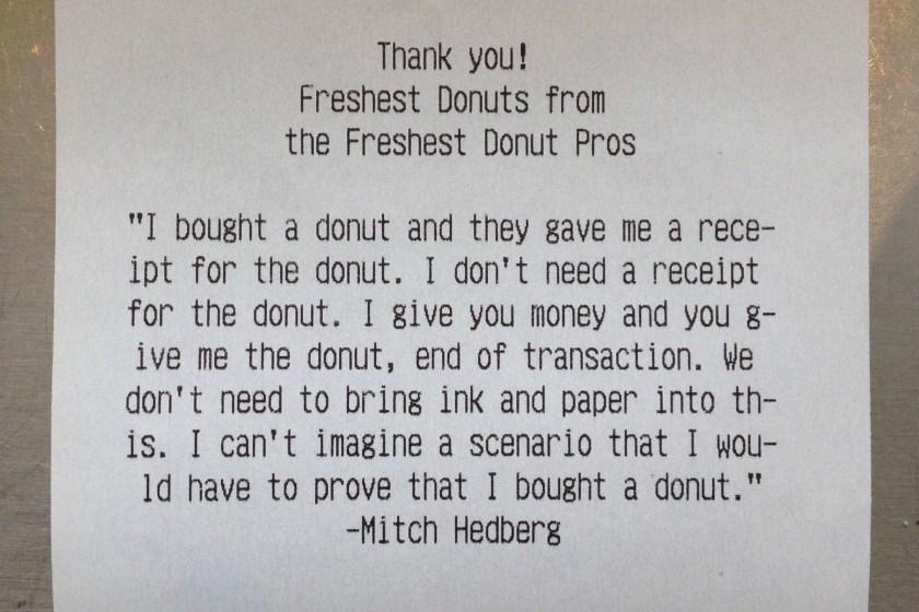 mitch hedberg meme 005 donut receipt