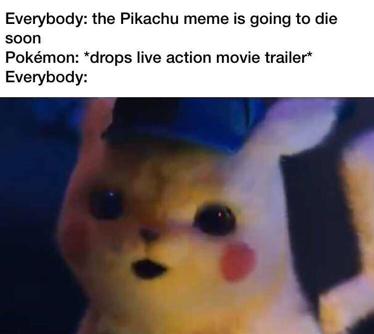 detective pikachu meme template