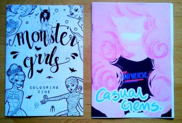 Monster Girls Zine - Sophie Hargreaves / Casual Gems Zine - Emma Donnelly