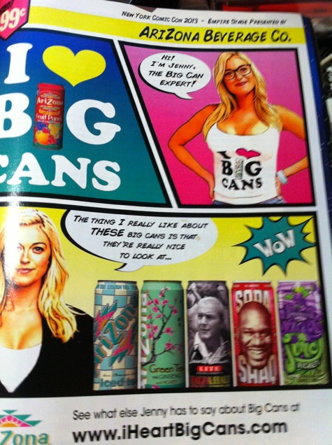 arizona tea big cans