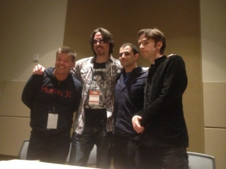 Rob Liefeld, Marc Silvestri, Jordan  Rennert and Patrick Meaney post Image Documentary Q&A - Photo by Henry Barajas