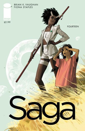 SAGA #14 cover art by Fiona Staples
