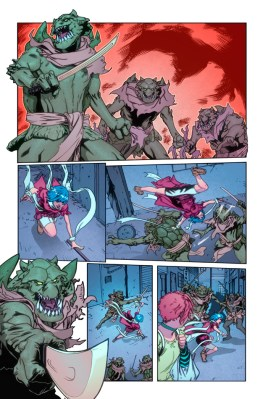 Interior art drawn by Steve Cummings with colors by John Rauch and Jim Zub.