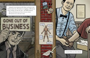 Bill the Boy Wonder page - father closing tailor shop