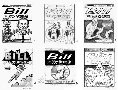 Bill the Boy Wonder - cover sketches 1 (six total)