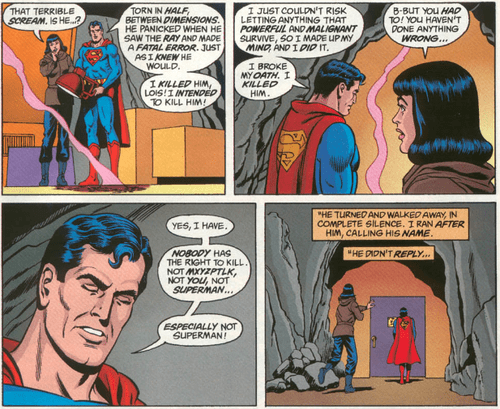 "Superman ""Nobody Has The Right To Kill"""