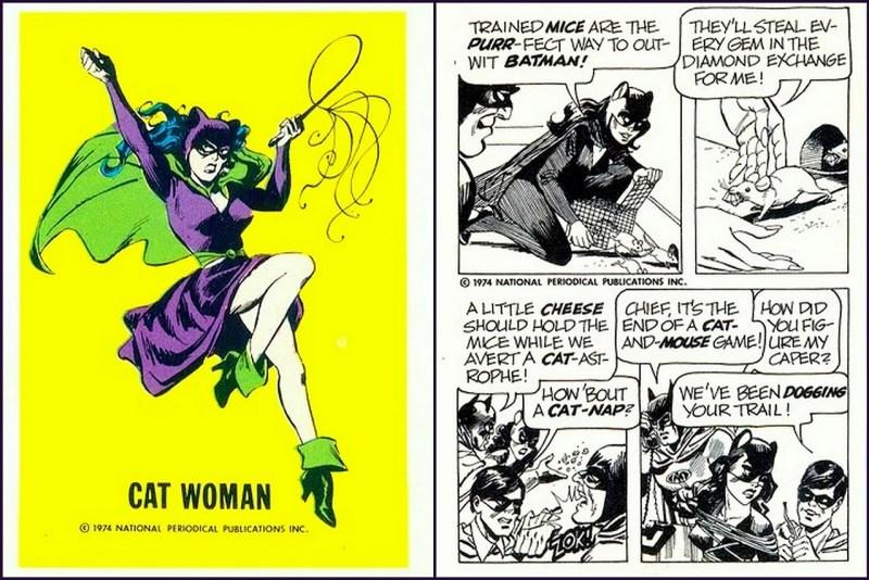 Cat Woman - Batman DC Comics Trading Card - Comic Strip