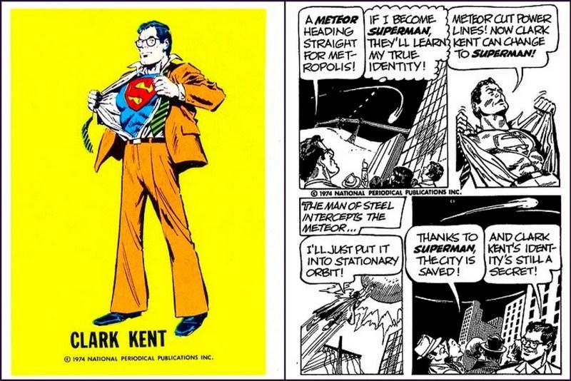 Clark Kent - Superman DC Comics Trading Card - Comic Strip