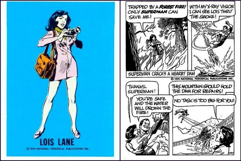 Lois Lane - Superman DC Comics  Trading Card - Comic Strip
