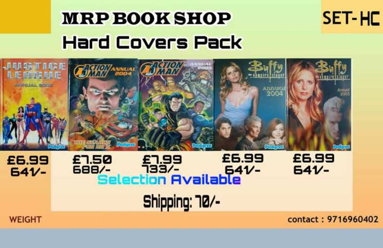Big Size Hardcovers - Justice League - Action Man - Buffy The Vampire Slayer - Annuals