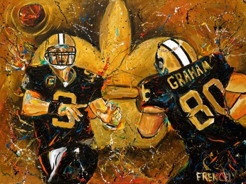 New Orleans Saints Frenchy art