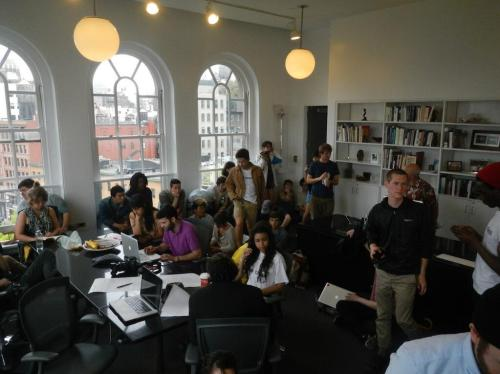 Student Take Over of Office of President of Cooper Union, May 8, 2013