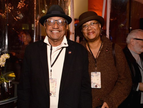 BURBANK, CA - DECEMBER 10: Animator Floyd Norman (L) and Adrienne Norman attend the 90 Years of Disney Animation celebration at Walt Disney Studios on December 10, 2013 in Burbank, California.  (Photo by Alberto E. Rodriguez/Getty Images for Disney Animation) *** Local Caption *** Floyd Norman; Adrienne Norman
