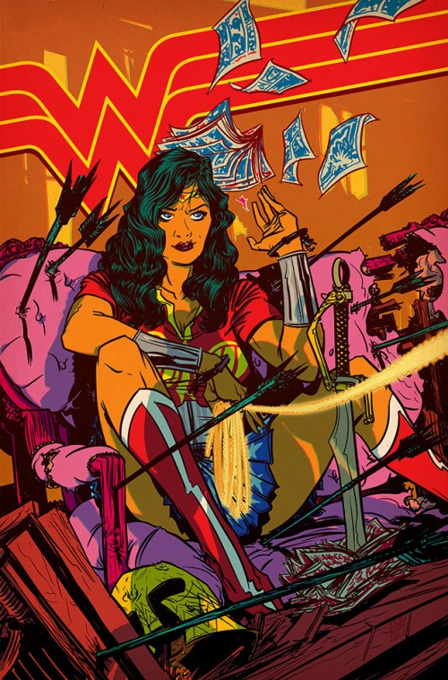 Wonder Woman art by Nathan Fox