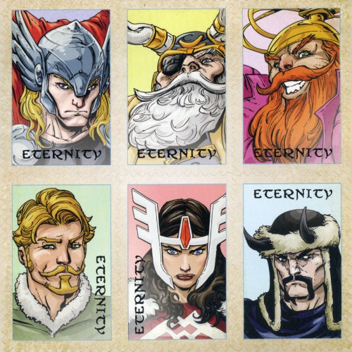 Thor postage stamp stickers.