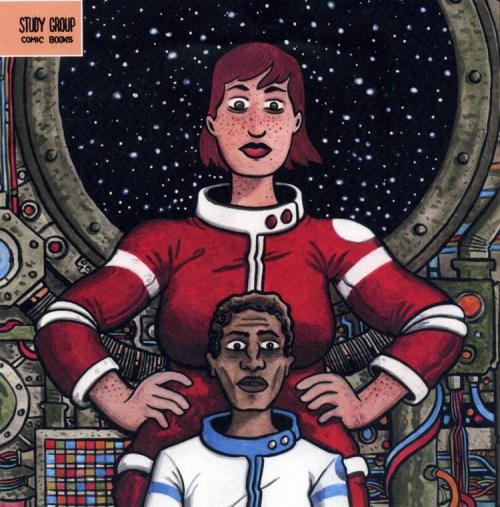 Phoebe and João in François Vigneault's TITAN, published by Study Group Comics
