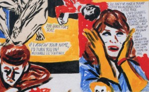 """Excerpt from Raymond Pettibon's """"The Credits Rolled,"""" 2013."""