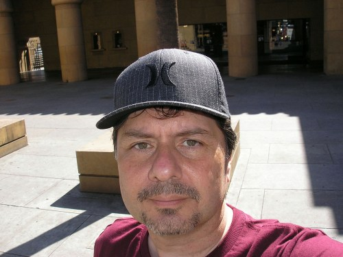 Here I am in front of the American Cinematheque in Hollywood.
