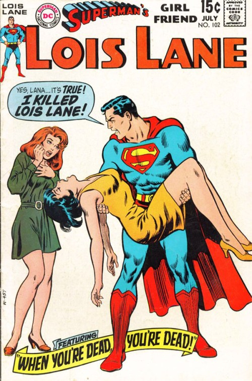 Lois Lane and Superman, circa 1970