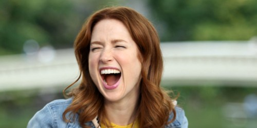 Ellie Kemper getting her Kimmy Schmidt on!