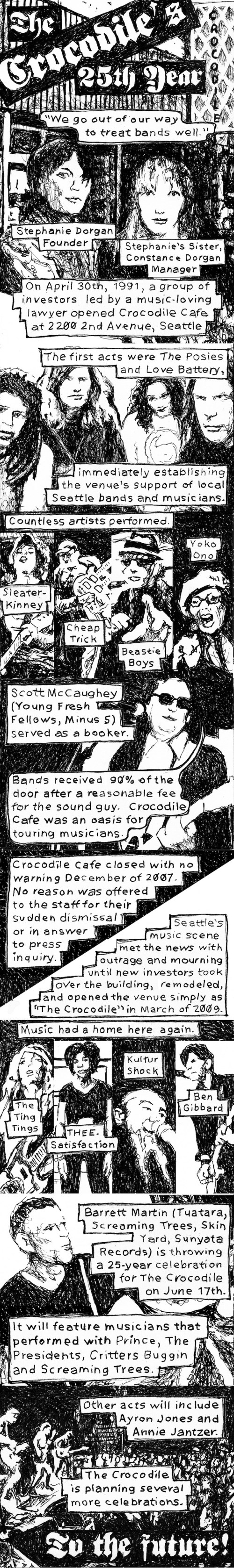 Noel Franklin's tribute to The Crocodile in Seattle Weekly