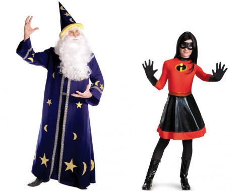 Wizard and Violet costumes from PureCostumes.com