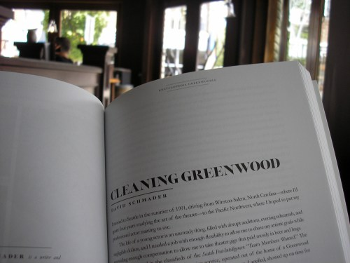 "Reading David Schmader's ""Cleaning Greenwood"""