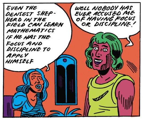"Panel from Anya Davidson's ""Hypatia's Last Hours"""