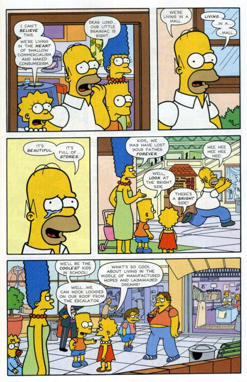 Page excerpt from Simpson Comics #116.
