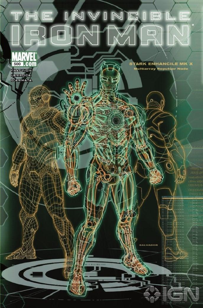 Variant cover de Iron Man #500