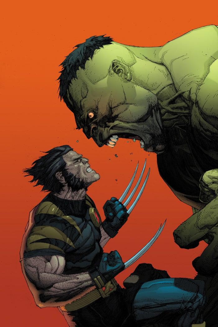 Hulk enfadado porque no hay ponche y pasteles en el cumpleaños