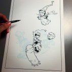 One of my favourite artisits Skottie Young (@skottieyoung) inking The Young Avengers.