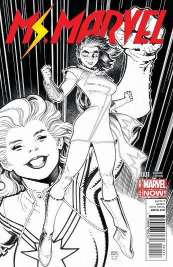 Ms. Marvel #1 Sketch Variant by Art Adams